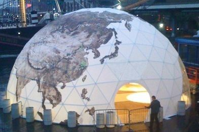 China Waterproof Half Sphere Geodesic Dome Tent For Camping 35m Diameter supplier