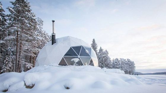 Snowproof Winter Resort Geo Dome Tent Igloo Camping Tents 200 Kg/Sqm