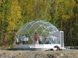 Outdoor Matel Frame Spherical Tents With Fiberglass Cover Diameter 30m - 60m