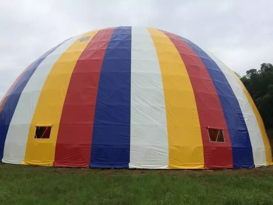 China Dia 5-30m PVC Coated Cover Fabric Outdoor Large Dome Tent With Steel Frame supplier