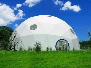 Durable Steel Frame Large Dome Tent , Geodesic Exhibition Event Tents