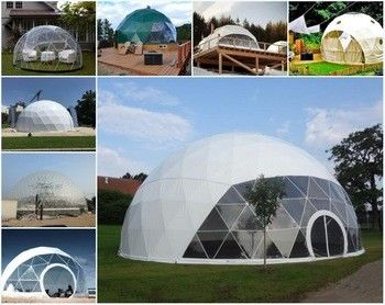 6m Small Igloo Garden Dome Tent Outdoor Exhibition / Trade Show Tent
