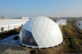 China Poweder Coated Diameter 20m Geodestic Large Dome Tents With Big Steel Tubes supplier