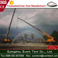 China Durable Steel Frame PVC Geodesic Large Dome Tent Diameter 15m supplier