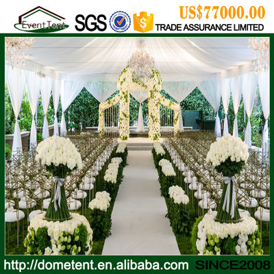 China Luxury Durable Aluminium Alloy Clear Span Wedding Party Tent 20 X 75m supplier