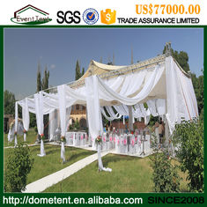 China 20 X 60m Economic Durable Nigeria White Wedding Tent With Glass Wall supplier