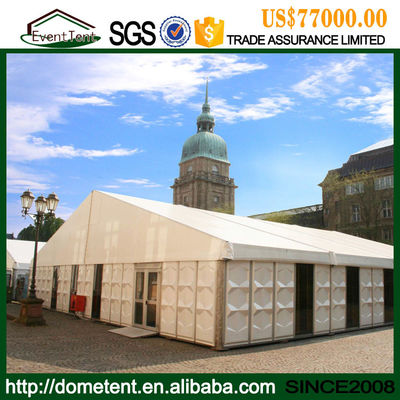 China Aluminum Prefabricated Portable Wedding Party Tent / Outdoor Warehouse Tent supplier