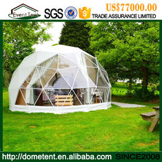 Rustless Large Outdoor Tent , PVC Cover Metal Frame Geodesic Dome Shelter