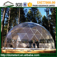 Large Transparent Event Geodesic Dome Tent With Clear Roof Cover