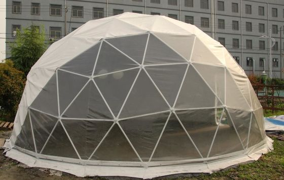 China Rustproof Windproof Geodesic Steel Large Dome Tent For Events supplier
