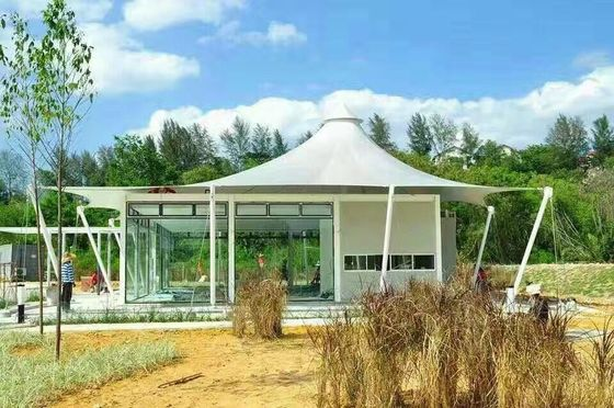 Luxury Resort Vacation Resort Canopy Large Camp Tent Hotel With Lining / Floor