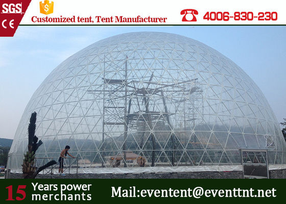 Transparent Dome Event Tent Large Size Fire Resistant With Galvanised Steel Frame