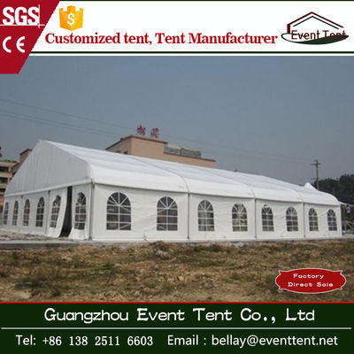 China Wedding / Event Marquee Curved Trade Show Tent 20 * 30m Hot - Dip Galvanized Steel supplier