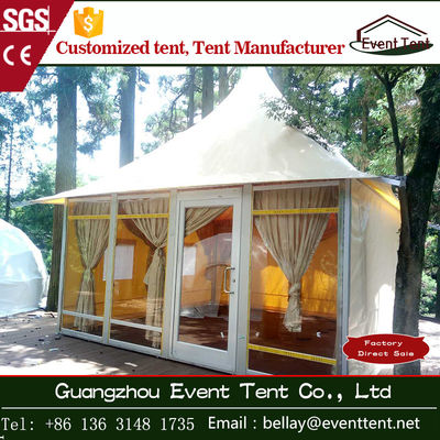 China clear span yurt tent manufacturers , luxury pagoda hotel tent carpas supplier