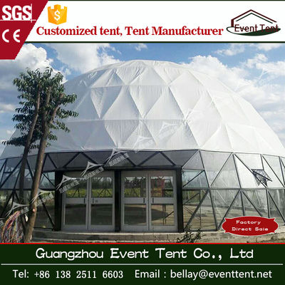 Double coated pvc camping dome shelter / carpas glass dome tent for event