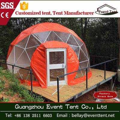 Fashion water - proof Red 10m Large dome tent for accommodation / hotel