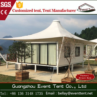 China Tear resistant 850gsm PVC coated polyster Luxury Camping Tent 5 x 5m supplier