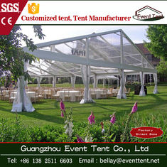 waterproof clear roof wedding Party tent with Hop dip Galvanized Steel 20x30m