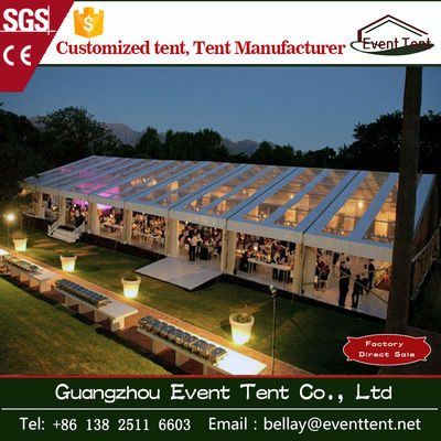 Transparent Outdoor Wedding Party Tent , clear roof big event marquee tent
