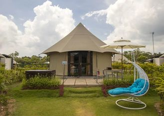 China White Accommodation shelter luxury Camping Tent for hotel room / resort supplier