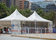 Folding Pagoda Party Tent Inflatable Aluminum Alloy For Luxury Hotel Transparent