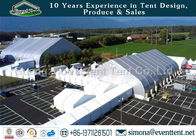 Big Size Outside Storage Tent White , Wedding Venues Marquee UV Resistant