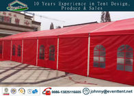 China Red color 10x40m aluminum frame pitch roof wedding party tent factory
