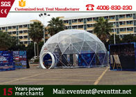 Clear Roof Beach Shelter Tent With Dual Blocked Out Sunshine PVC Coated Polyester Fabric
