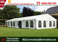 China Custom Luxury Large White Wedding Tent , Outside Canopy Tent With Walls Custom Window factory