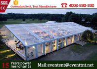 Clear Outdoor Tent For wedding event party , Outdoor Waterproof Tent 20 Meter