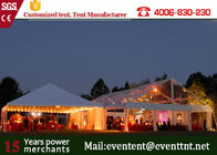500 People clear wedding Tent With Hard Pressed Aluminum Alloy Fire Ratardant