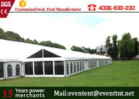 White Garden Party Tent PVC Fabric , Luxury Wedding Marquee With Large Capacity