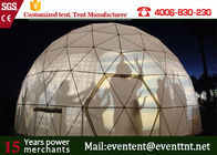 Luxury Camping Tent 8 Meters Diameter Transparent With Luxury Decoration