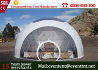 China PVC Roof White Best Tent For Family Camping , Largest Camping Tent  With Clear Roof Top factory