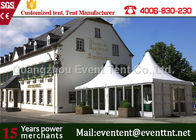 Big Wedding Luxury Camping Tent Waterproof Square Roll Up Windows With Mosquito Net