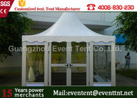 China pvc outdoor exhibition 6x6m pagoda tent with pvc windows sale factory