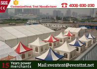 China Durable garden marquee pavilion pagoda party tent with logo printed for exhibition event factory