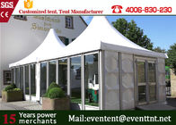 China Glass Wall Custom Event Tents Leisure Entertainment For 50 Peoples 8 X 8m Size company
