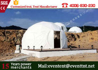 China Customized White Color Large Dome Tent with Waterproof PVC Roof Cover factory