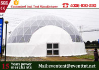 China Dome Shelter Systems Geodesic Dome Tent With Hot Dip Galvanized Steel Structure factory