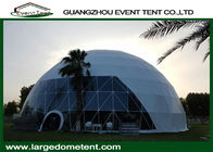 50m Diameters Geodesic Steel Large Glass Dome Tent For Events