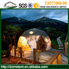 PVC Cover Metal Frame Resort Glamping Geodesic Dome Tent For Exhibition Activities