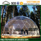 China Customized Waterproof Aluminum Frame Geodesic Dome Tent For Accommodation company