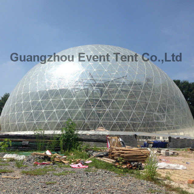 China customized 30meter diameter big clear transparent geodesic dome tent supplier & customized 30meter diameter big clear transparent geodesic dome tent