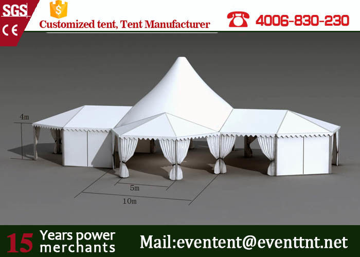 Folding Shade Canopy PVC Fabric  High Peak Frame Tents With Restaurant Seat Cushion & Folding Shade Canopy PVC Fabric  High Peak Frame Tents With ...