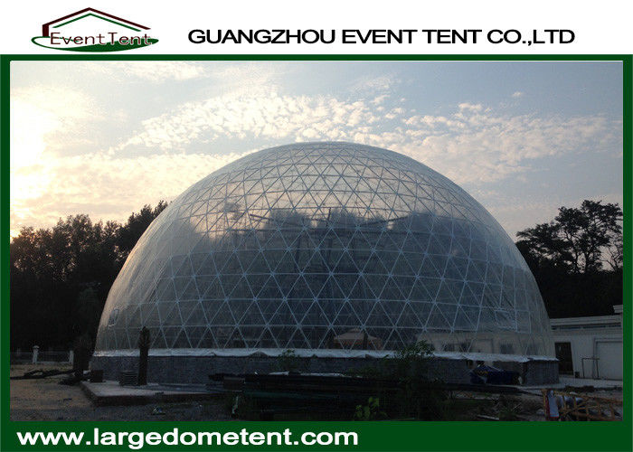 20m Diameters Round Geodesic Dome Tents With Clear PVC Fabric on
