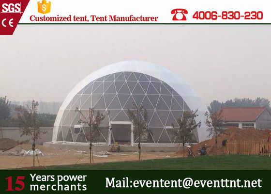 China 30m Aluminum Alloy Geodesic Dome Greenhouse Kits Waterproof For Concert Event factory