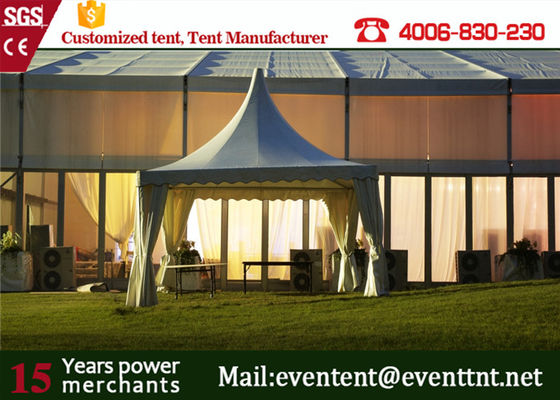 China Heavy Duty Wedding Party Tent marriage Pagoda tents PVC skin With Aluminum Structure factory