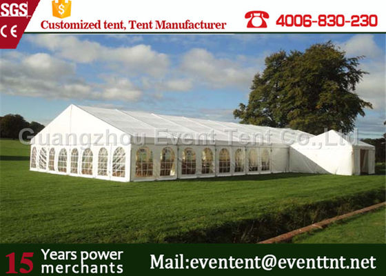 China 500 People Wedding Party Tent White marquee With Durable PVC Fabric Waterproof Cover factory