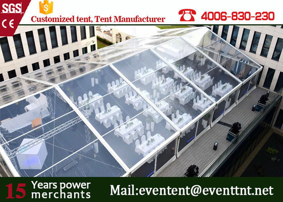 China Large Capacity Luxury Wedding Party Tent With Inflatable Roof Cover / Aluminum Door factory